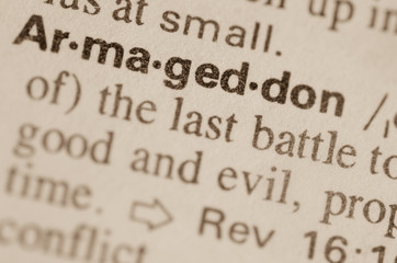 Dictionary definition of word Armagedon