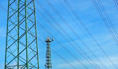 Hochspannungsleitung und Mobilfunk