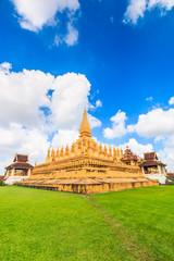 Wat Thap Luang in Vientiane of Laos