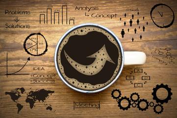 Pfeil im Kaffee