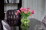 flowers on office desk