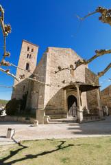 Ancient 14th century Church in Buitrago de Lozoya,Spain