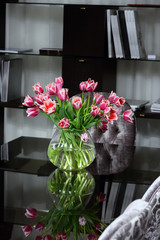 flowers on office desk