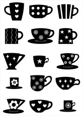 cup-black silhouette