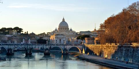 tramonto a roma