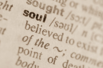 Dictionary definition of word soul
