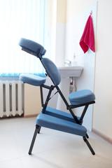 Blue massage chair
