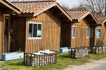 Nice and beautiful wood  Beach Huts in France