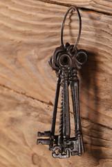 vintage keys close-up