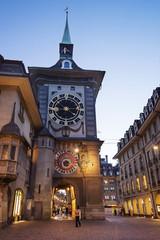 Clock tower in Bern city center
