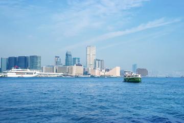 Hong Kong bay and skyline