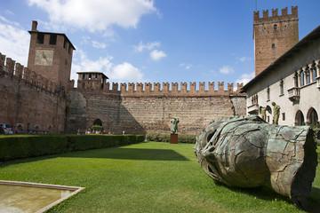 Inner yard of Verona old castle