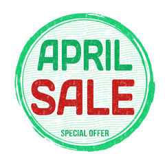 April sale stamp