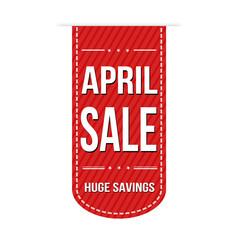 April sale banner design