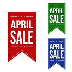 April sale banner design set