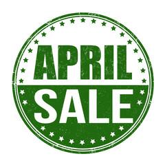 April sale stamp