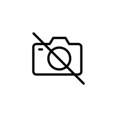 No Camera - Trendy Thin Line Icon