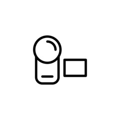 Camcorder  - Trendy Thin Line Icon