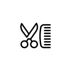Hair Salon - Trendy Thin Line Icon