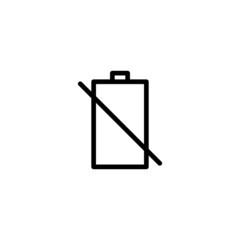 Dead Battery - Trendy Thin Line Icon