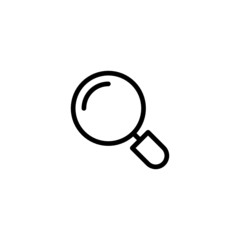 Magnifying Glass - Trendy Thin Line Icon