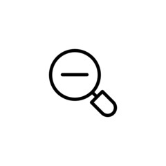 Zoom out - Trendy Thin Line Icon