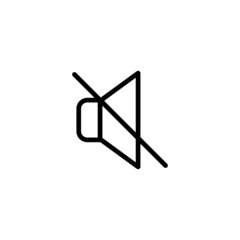 Mute - Trendy Thin Line Icon
