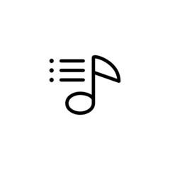 Playlist - Trendy Thin Line Icon