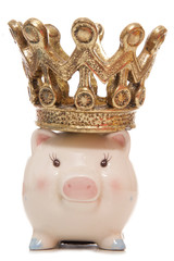 baby piggy bank with crown