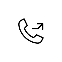Missed Call - Trendy Thin Line Icon