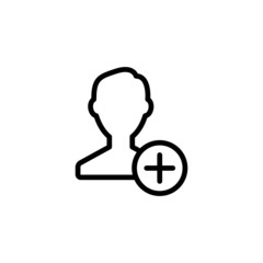 Add Contact - Trendy Thin Line Icon