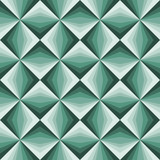 Abstract emerald green geometric background.