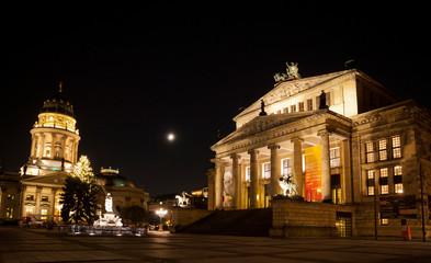 Gendarmenmarkt Square at night, Berlin, Germany