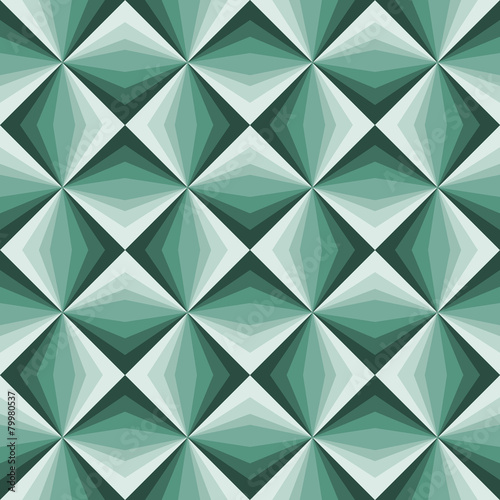Abstract emerald green geometric background. - 79980537