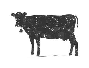 silhouette astratta di mucca