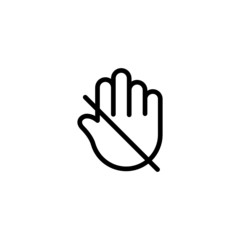 Don't Touch - Trendy Thin Line Icon
