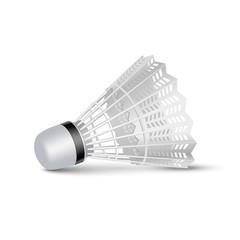 Vector Badminton Shuttlecock Isolated on White