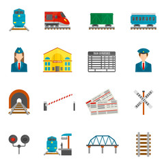 Railway Icons Set