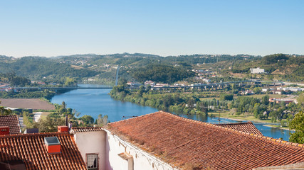 View of the Europe Bridge in Coimbra