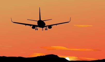 Plane against a decline