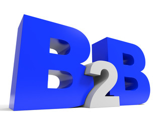 B2B volume letters on white background.