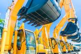 Shovel excavator on Asian machinery  rental company