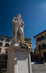 Italian playwright and librettist Carlo Osvaldo Goldoni statue