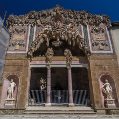 Exterior of Buontalenti Grotto on Boboli Gardens, Florence.