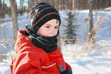 enfant en hiver