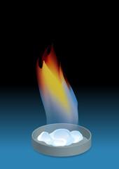 Methane Hydrate image illustration