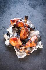 Sweet chicken drumsticks