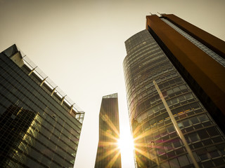 Österreich, Wien, Donau-City, STRABAG-Haus, DC Tower 1 und Andromeda Turm