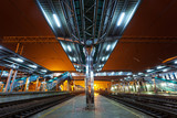 Railway station at night - 79986361