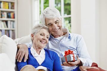 Deutschland, Hessen, Frankfurt am Main, Älteres Paar zu Hause